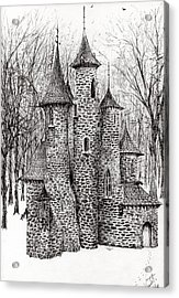 The Castle In The Forest Of Findhorn Acrylic Print by Vincent Alexander Booth