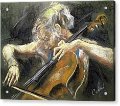 The Cellist Acrylic Print by Debora Cardaci