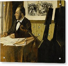 The Cellist Pilet Acrylic Print by Edgar Degas