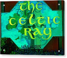 the Celtic Ray Acrylic Print by Charles Peck