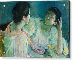 The Conversation Acrylic Print by Mary Stevenson Cassatt