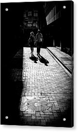 The Couple - Dublin, Ireland - Black And White Street Photography Acrylic Print by Giuseppe Milo