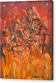 The Damned Acrylic Print by Catherine Sprague