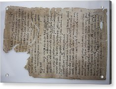 The Dead Sea Scrolls Acrylic Print by Taylor S. Kennedy
