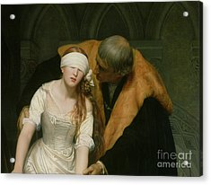 The Execution Of Lady Jane Grey Acrylic Print by Hippolyte Delaroche
