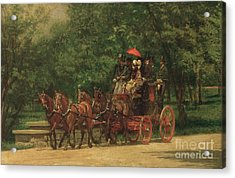 The Fairman Rogers Coach And Four Acrylic Print by Thomas Cowperthwait Eakins