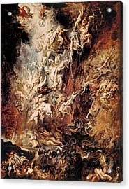 Acrylic Print featuring the painting The Fall Of The Damned by Peter Paul Rubens