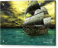 The Flying Dutchman Acrylic Print by Sandra Bauser Digital Art