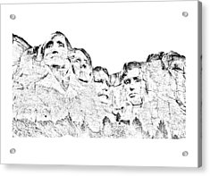 The Four Presidents Acrylic Print