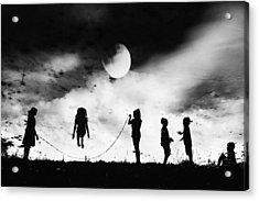 The Game High Jump Acrylic Print by Jay Satriani
