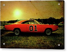 Acrylic Print featuring the photograph The General Lee by Joel Witmeyer