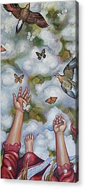 Acrylic Print featuring the painting The Gift by Sheri Howe