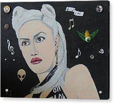 The Girl From Orange County.gwen Stefani. Acrylic Print