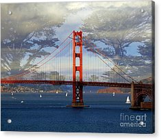 The Golden Gate Bridge  Acrylic Print by Scott Cameron