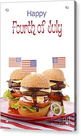 The Great Bbq Hamburger With Flags Acrylic Print