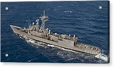 The Guided-missile Frigate Uss Reuben Acrylic Print by Stocktrek Images