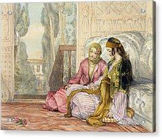 The Harem Acrylic Print by John Frederick Lewis