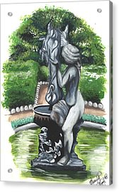 The Hidden Fountain Acrylic Print by Scarlett Royal