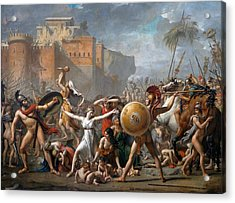 The Intervention Of The Sabine Women Acrylic Print by Jacques-Louis David