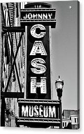 The Johnny Cash Museum - Nashville Acrylic Print by Paul Brennan