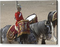 The Kettledrums Of Household Cavalry Acrylic Print by Andrew Chittock