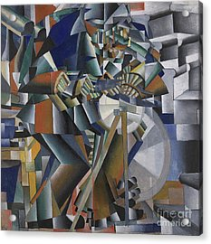 The Knife Grinder Or Principle Of Glittering Acrylic Print by Kazimir Malevich