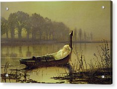 The Lady Of Shalott Acrylic Print by John Atkinson Grimshaw