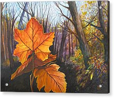 The Last Of Autumn Acrylic Print by Carrie Auwaerter