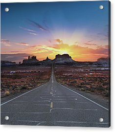 The Long Road To Monument Valley Acrylic Print