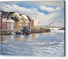 The Long Walk Galway Acrylic Print by Vanda Luddy