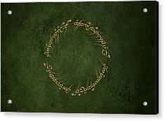 The Lord Of The Rings Acrylic Print