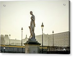 The Louvre Seen From The Garden Of The Tuileries. Paris. France. Europe. Acrylic Print