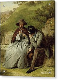 The Lovers Acrylic Print by William Powell Frith