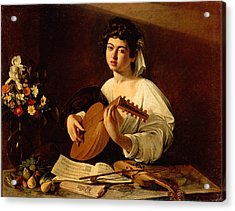The Lute-player Acrylic Print