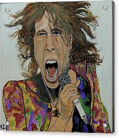 The Madman Of Rock.steven Tyler. Acrylic Print
