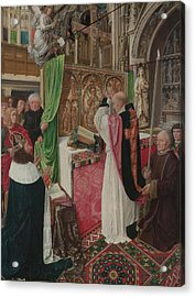 The Mass Of Saint Giles Acrylic Print by Master of Saint Giles