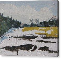 The Melting Snow Acrylic Print by Francois Fournier