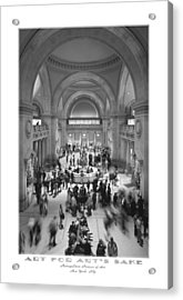 The Metropolitan Museum Of Art Acrylic Print by Mike McGlothlen