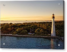 Acrylic Print featuring the photograph The Miami Lighthouse by Lars Lentz
