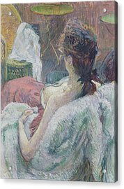 The Model Resting Acrylic Print by Henri de Toulouse-Lautrec