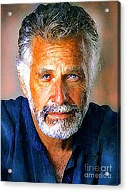 The Most Interesting Man In The World Acrylic Print by Debora Cardaci