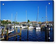 The Naples City Dock Acrylic Print