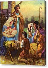 The Nativity Acrylic Print by Valer Ian