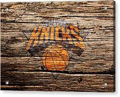 The New York Knicks 1b Acrylic Print by Brian Reaves