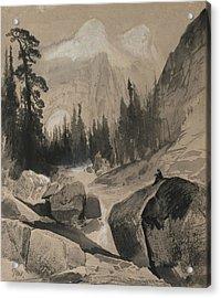 The North Dome Yosemite California Acrylic Print by Thomas Moran