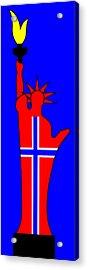 The Norwegian Statue Of Liberty Acrylic Print by Asbjorn Lonvig