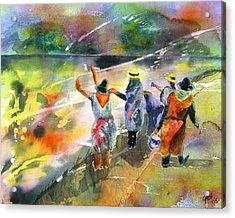 The Painters Acrylic Print by Joyce Ann Burton-Sousa