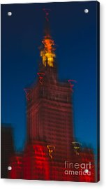 The Palace Of Culture And Science Acrylic Print