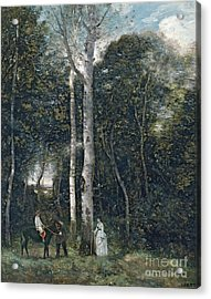 The Parc Des Lions At Port-marly Acrylic Print by Jean Baptiste Camille Corot