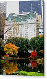 The Park And The Plaza Acrylic Print
